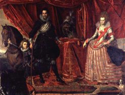Christian IV of Denmark and his first wife Anne Catherine of Brandenburg | Pieter Isaacsz | Oil Painting