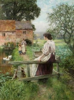By a Water Mill | Henry John Yeend King | Oil Painting