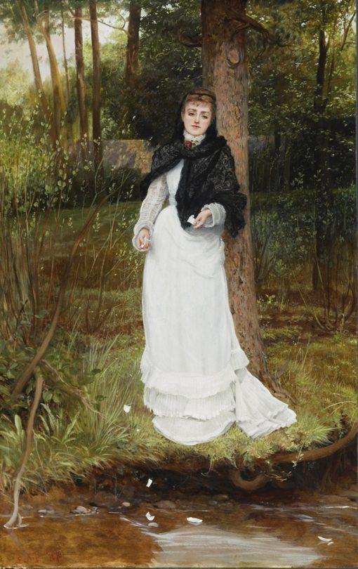 The Love Letter   Edward Killingworth Johnson   Oil Painting