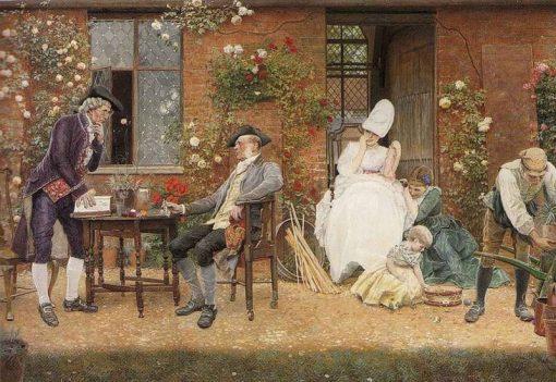Rival Florists | Edward Killingworth Johnson | Oil Painting