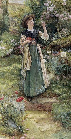 Dandelion clocks | Edward Killingworth Johnson | Oil Painting
