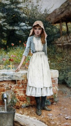 The Last Chore | Edward Killingworth Johnson | Oil Painting