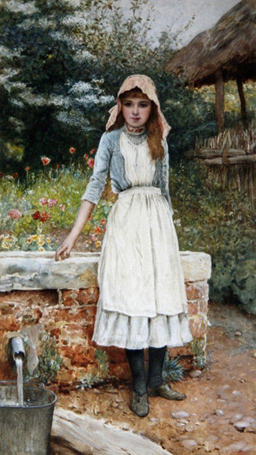 The Last Chore   Edward Killingworth Johnson   Oil Painting