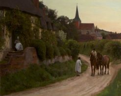 Evening in the Village | Henry John Yeend King | Oil Painting