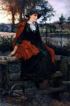 The Red Cape | Edward Killingworth Johnson | Oil Painting