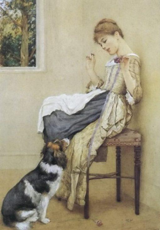 Begging for Favors | Edward Killingworth Johnson | Oil Painting