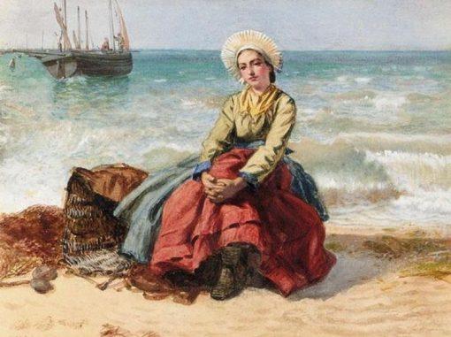 A Breton Girl | Edward Killingworth Johnson | Oil Painting