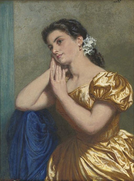 Daydreaming of Love | Edward Killingworth Johnson | Oil Painting