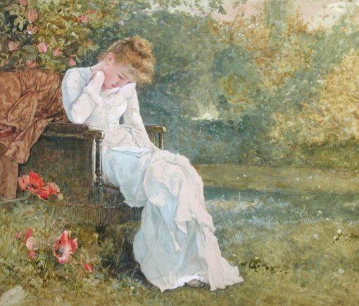 The Love Letter | Edward Killingworth Johnson | Oil Painting