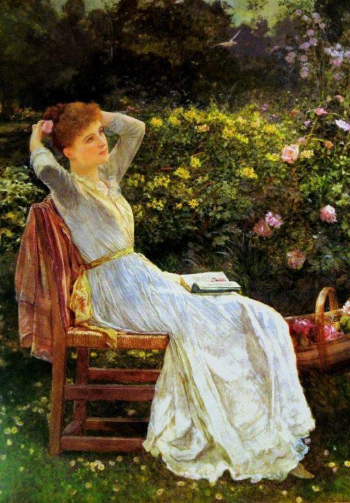 Summertime   Edward Killingworth Johnson   Oil Painting