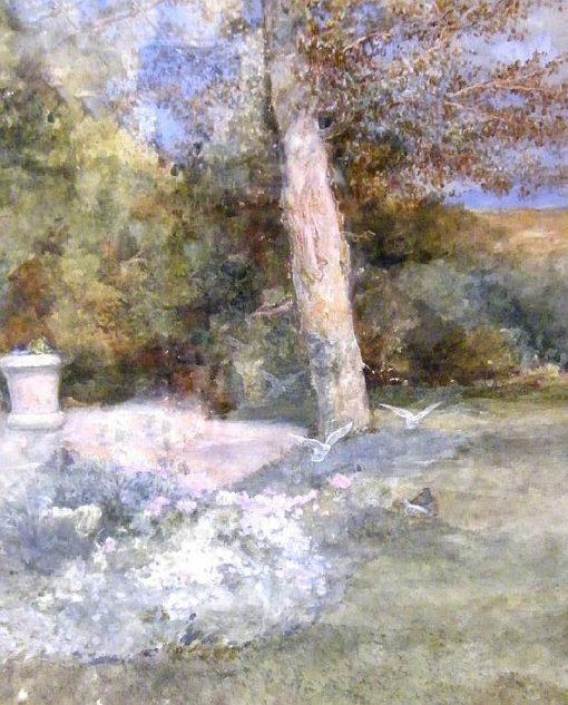 Garden Scene | Edward Killingworth Johnson | Oil Painting