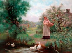 Feeding the Ducks | Henry John Yeend King | Oil Painting