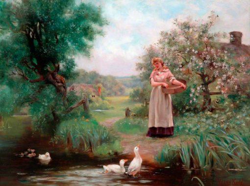 Feeding the Ducks | Henry John Yeend King | Oil Painting
