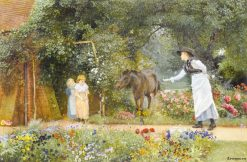 Catching the Pony | Edward Killingworth Johnson | Oil Painting