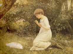 Her First Sorrow | Edward Killingworth Johnson | Oil Painting