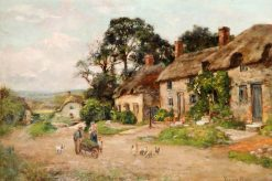 Figures by a Country Cottage | Henry John Yeend King | Oil Painting