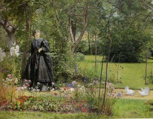 A Summer Garden   Edward Killingworth Johnson   Oil Painting