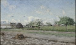 Apple Tree in Flower. Motif from Barbizon | Knut Axel Lindman | Oil Painting