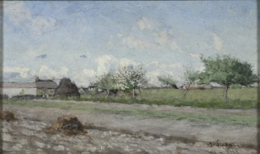 Apple Tree in Flower. Motif from Barbizon | Knut Axel Lindman | Oil Painting