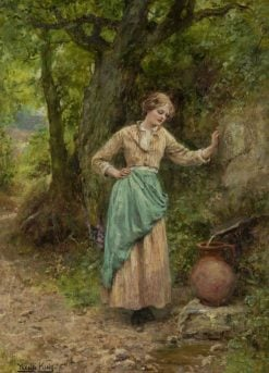 Girl at a Well | Henry John Yeend King | Oil Painting
