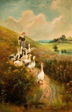 Goose Girl | Henry John Yeend King | Oil Painting