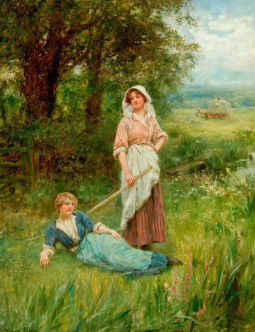Hay Time | Henry John Yeend King | Oil Painting