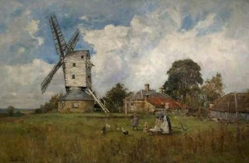 Landscape with a Windmill | Henry John Yeend King | Oil Painting