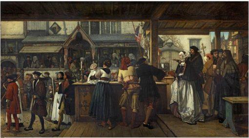 Albrecht Durer Visiting Antwerp in 1520 | Jan August Hendrik Leys | Oil Painting