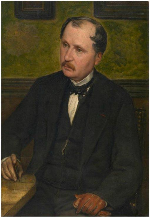 Architect Alphonse Balat   Jan August Hendrik Leys   Oil Painting