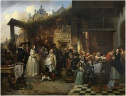 Wedding in Flanders in the Seventeenth Century | Jan August Hendrik Leys | Oil Painting