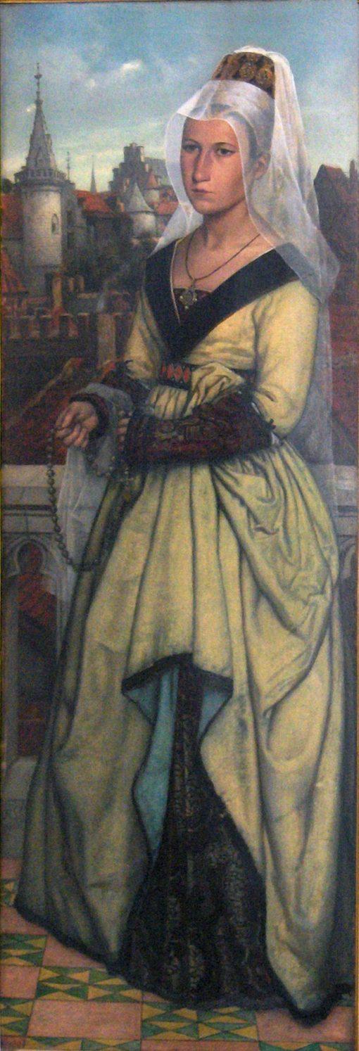Mary of Burgundy   Jan August Hendrik Leys   Oil Painting