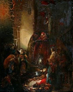 The Knights Funeral | Jan August Hendrik Leys | Oil Painting