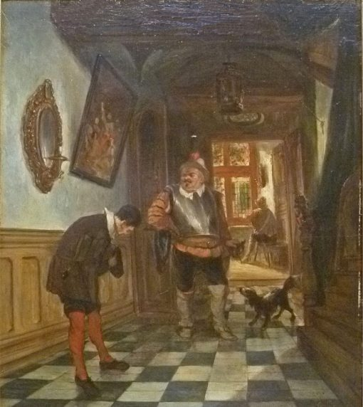 Interior with a Dog | Jan August Hendrik Leys | Oil Painting