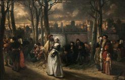 Walk outside the Walls | Jan August Hendrik Leys | Oil Painting
