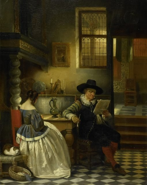 Seventeenth-century interior | Jan August Hendrik Leys | Oil Painting