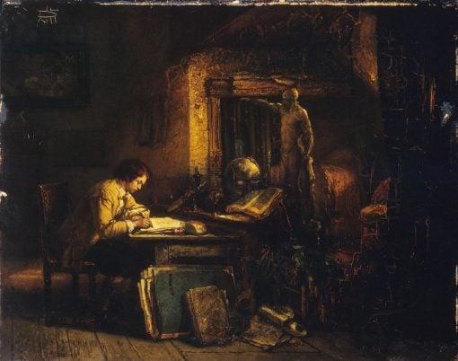 Artist in his Studio   Jan August Hendrik Leys   Oil Painting
