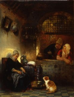 Dutch Interior | Jan August Hendrik Leys | Oil Painting