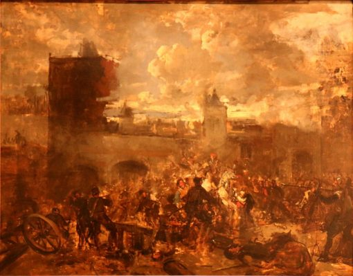 French fury in Antwerp in 1583 (Sketch) | Jan August Hendrik Leys | Oil Painting
