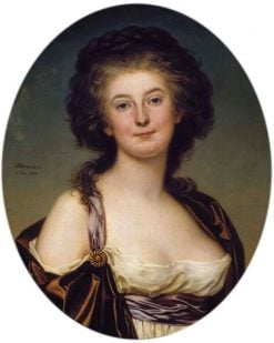 Portrait of Mademoiselle Charlotte Eckerman | Adolf Ulrik Wertmuller | Oil Painting