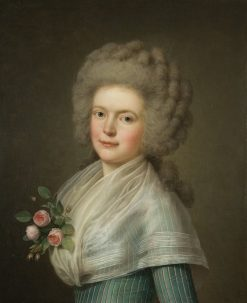 Portrait Mrs John Mac Carthy   Adolf Ulrik Wertmuller   Oil Painting