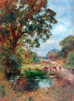 The Drinking Pool   Henry John Yeend King   Oil Painting