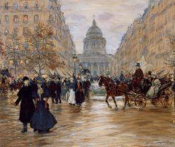 Boulevard Saint-Michel | Jean-Francois Raffaëlli | Oil Painting