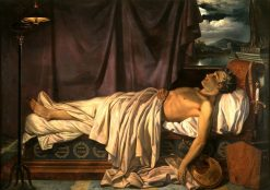 Lord Byron on his Death Bed | Joseph-Denis Odevaere | Oil Painting