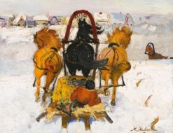 Troika in the Snow | Filipp Andreevich Maliavin | Oil Painting