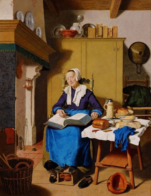 An Old Woman | Jean-Etienne Liotard | Oil Painting