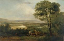 Landscape -  View in Northumberland | Thomas Miles Richardson