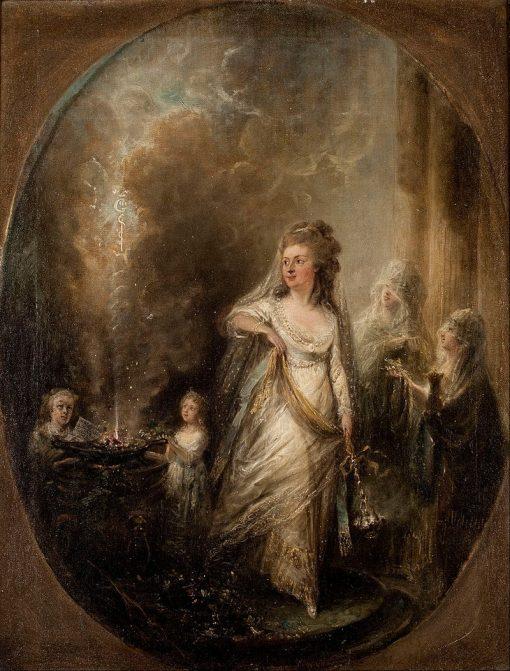 Ulla von Höpkens sacrifice to Asclepius | Elias Martin | Oil Painting