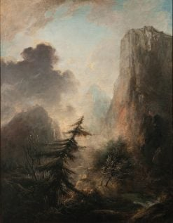 Romantic Landscape with Spruce | Elias Martin | Oil Painting