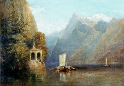 Lake Lucerne with William Tells Chapel | Thomas Miles Richardson