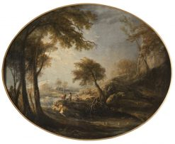 Landscape with Rustics and Cattle | Elias Martin | Oil Painting